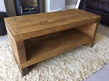 Rustic Handcrafted Chunky Reclaimed TV Unit stand/cabinet In Oak Stain