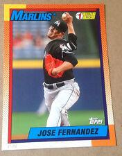 2015 Topps 1990 #1 Draft Picks 5x7 Version (#/99 Made) JOSE FERNANDEZ Marlins