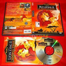 IL RE LEONE II 2 Il Regno di Simba 1ª Ed. SIAE Rosa Bollino Tondo Dvd USATO - ET