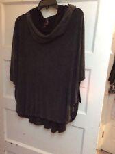 $64 Betsey Johnson Womens Activewear  Bleach Wash Black   XL K32