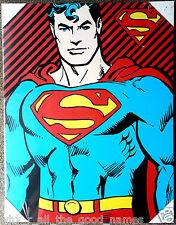 Official DC Comics SUPERMAN  Cartoon Comic Cover FRAMED PRINT Large 61cmx47cm