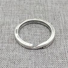 925 Sterling Silver Split Key Ring Clasp for Keychain Diameter 20mm