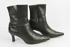 Boots PETER KAISER Black Leather UK 3 / FR 35,5 VERY GOOD CONDITION