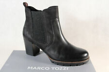 Marco Tozzi Ankle Boots Black Real Leather 25491 New