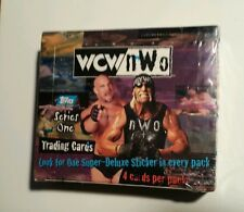 WCW/NWO Topps Series 1 Wrestling Trading Cards Sealed Box 1998  W/Stickers Stars
