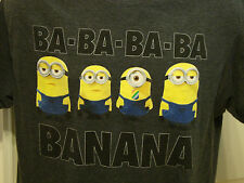 Despicable Me 2 Ba-Ba-Ba-Ba Banana Song Little Minions Large Gray Film T-Shirt