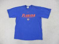 VINTAGE Nike Florida Gators Shirt Adult Medium Blue Orange Swoosh UF Mens 90s*