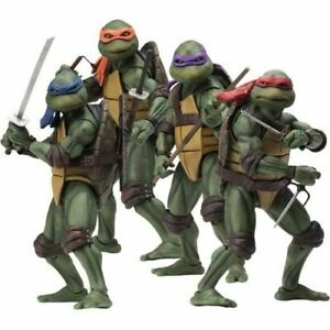 """1:10 7"""" Teenage Mutant Ninja Turtles 1990 Action Figures Neca Original"""
