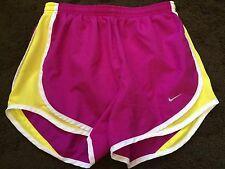 Womens Nike Dri-Fit Athletic Running Shorts - Purple/Yellow - sz S - Fast Ship