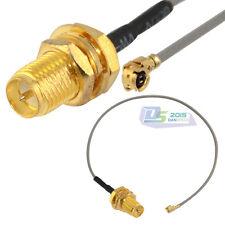 IPX / u.fl to RP SMA Jack Nut bulkhead 15cm Coaxial pigtail cable Mini-PCI RF