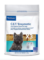 Virbac C.E.T. Enzymatic Oral Hygiene Chews for Dogs Small 11-25 lbs 3-Pack 90CT