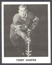 1965 COCA-COLA COKE  TERRY HARPER MONTREAL CANADIENS HOCKEY CARD