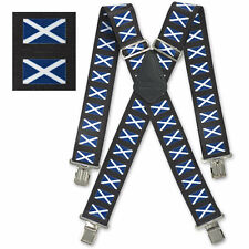 "Brimarc Mens Braces Heavy Duty Suspenders 2"" 50mm Wide Scotland Braces"