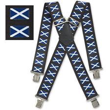 "Brimarc Mens Braces Heavy Duty Suspenders 2"" 50mm Wide Scotland Braces"