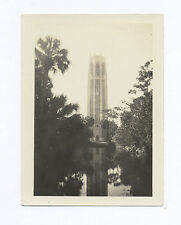 1930's LAKE WALES, FL SNAPSHOT: BOK TOWER DOUBLED BY REFLECTION SHADOW IN WATER