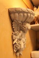 Applique pour luminaire ange et fleur  H 32 L 26cm  en plâtre teinté