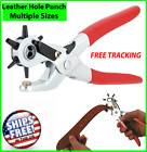 """9"""" Leather Hole Punch Heavy Duty Hand Pliers Belt Holes 6 Sized Puncher Tool New <br/> Free Ship* Perfect For Belts, Leather work etc.."""