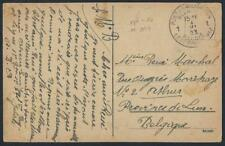 BELGIUM 1923 MILITARY POSTE FREE FRANK POST CARD OF JULICH LEGE RPO CANCEL