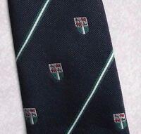 Vintage Tie Mens Necktie SHIELD CRESTED Club Association COMMODORE TREVIRA