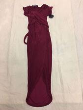 Hot Miami Styles Women's Wrap Tie Around Dress Red SV3 Size Small NWT