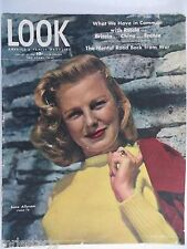 LOOK MAGAZINE January 22,1946 June Allyson VINTAGE ADS Mental Road Back From War