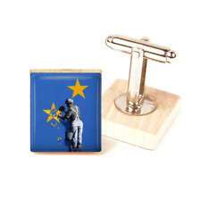 Banksy BREXIT Cufflinks eu FLAG Graffiti Art Banksy Inspired Cufflinks uk made