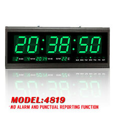 Hot Digital Large Big Digits LED Wall Desk Clock With Calendar Temperature  -US