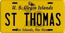 St. Thomas U.S. Virgin Islands Aluminum License Plate