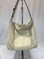Coach Madison Isabelle Leather Shoulder Bag Butter Cream Leather Bag 21224