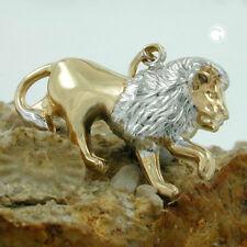 Sternzeichen Löwe matt-glänzend 9Kt GOLD Anhänger