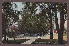 Dayton Ohio 1909 Postcard View Of South Boulevard