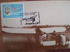 AVIATION 83 airplane 1909 BLERIOT private maxicard ROMANIA MAXIMUM CARD