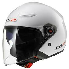 CASCO JET LS2 OF569.2 TRACK BIANCO LUCIDO TG.S