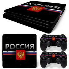 Sony PS4 Playstation 4 Slim Skin Aufkleber Schutzfolie Set - Russia 2 Motiv