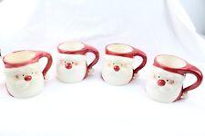 Santa Face Mug Coffee Ceramic Royal Norfolk 4 MUG SET