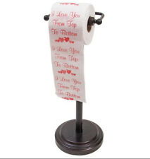 I Love You from Top to Bottom funny romantic toilet paper gag gift