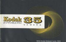 Kodak Automatic 35 Camera Instruction Manual original