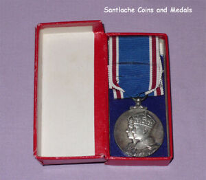 1937 OFFICIAL KING GEORGE VI CORONATION MEDAL - Full Size Boxed Original