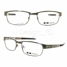 Oakley METAL PLATE OX5038-0655 Brushed Chrome Titanium 55/18/140 Eyeglasses New