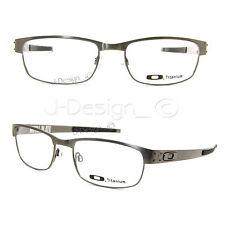 Oakley METAL PLATE OX5038-0655 Brushed Chrome Titanium Eyeglasses New Authentic