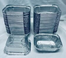 "100 Pcs. (6"" x 4 3/4"" x 2"") New Disposable Aluminum Trays - Pans / Cooking Drip"