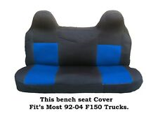 Black/Blue Mesh Fabric Bench seat cover Fit's Ford F150  92-04