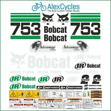 BOBCAT SKID STEER 753 Advantage Series Turbo Warning Decals Stickers Full Kit