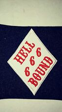 Support 81 Patch Hell Bound Diamond Patch Mighty Red & White Supporter!!!!