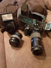 Minolta 7000 Maxxum Camera w/2 lenses & flash... Used