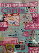 Let's Make Cards Magazine Christmas Issue Includes Song Bird Die Collection NIP