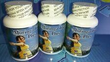 3 Moringa Triple Plus 180 caps  1000mg 100% Organic, vegetarian,feminelle,birm,