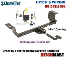 """FITS 2011-2014  DODGE CHARGER, CLASS 2 TRAILER HITCH & WIRING 1 1/4"""" BAR  36548"""
