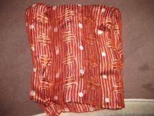écharpe foulard soie Caroll divers tons marron beige bistre 24 X 100 bon  état 4e014a8eae0