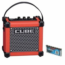 Roland MICRO CUBE GX Battery Powered Guitar Amplifier - Red BONUS PAK